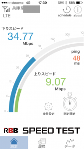 BIGLOBE速度